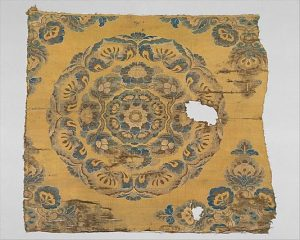 Extant Tang Dynasty silk fragment