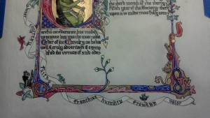 Detail of Morgan's Chivalry Scroll