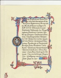 Scroll of Honor - Kingdom Exploratory Committee