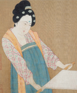 5. Detail from 搗練圖卷 [Court ladies preparing newly woven silk]