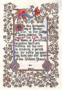 William Villiers' Golde Peacock_by_leahilluminates-d5iahvv